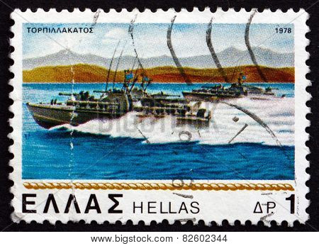 Postage Stamp Greece 1978 Torpedo Boats