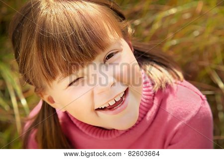 Portrait of cheerful girl