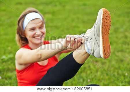 Athlete woman
