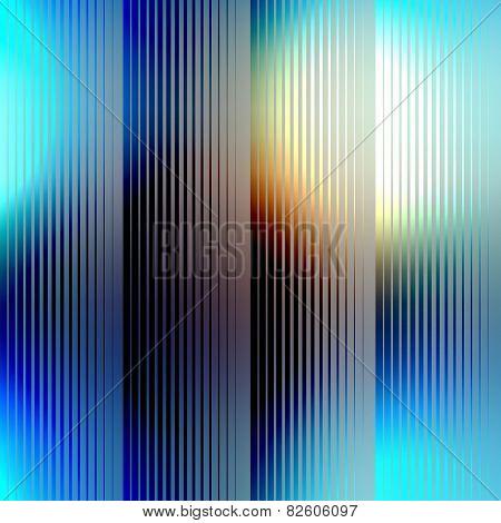 Strikes on blue blur background.