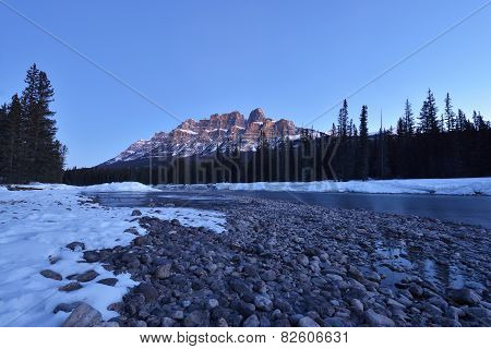 Castle Mountain Sunrise, Banff National Park, Canada