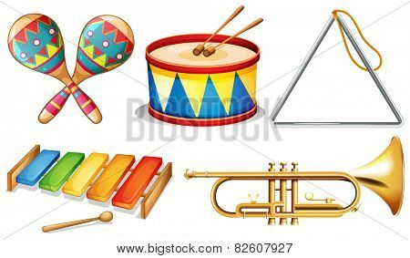 Illustration of different musical instruments