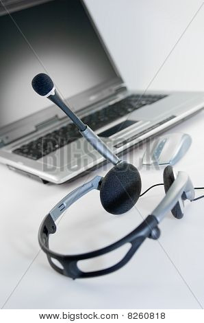 Headset with Laptop