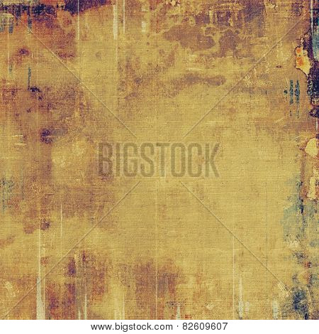 Cracks and stains on a vintage textured . With different color patterns: yellow (beige); brown; purple (violet)