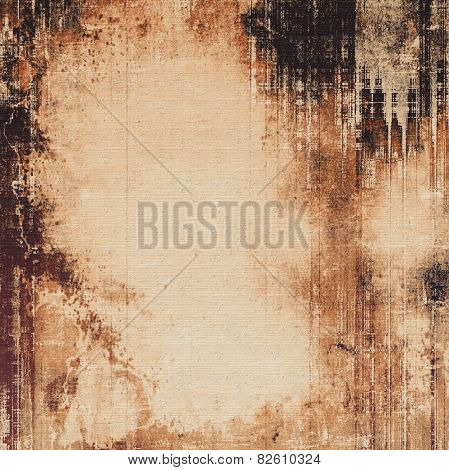 Old style detailed texture - retro background with space for text or image. With different color patterns: yellow (beige); brown; gray; black