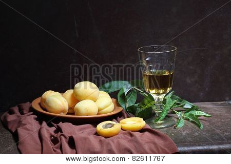Wine And Apricots