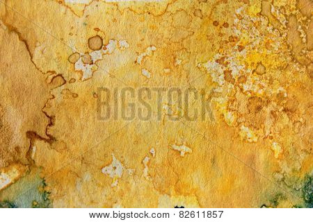 Yellow Watercolor Textures 1