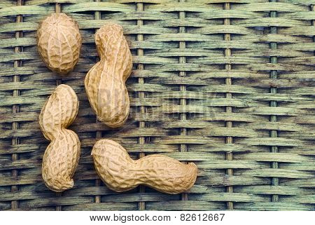 Peanuts With Braided Background To Create A Title