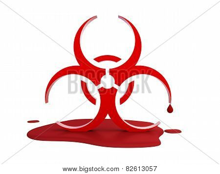 Logo Of The Virus In The Blood
