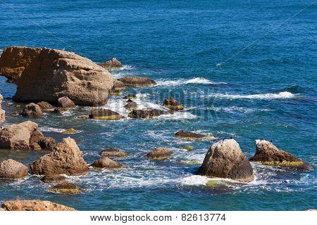 nice summer scene on sea