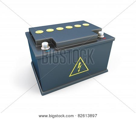Car Battery 12V On A White Background
