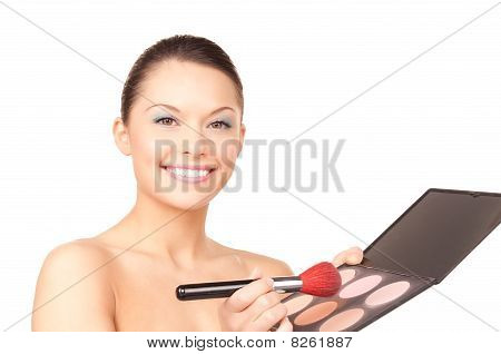 Lovely Woman With Palette And Brush