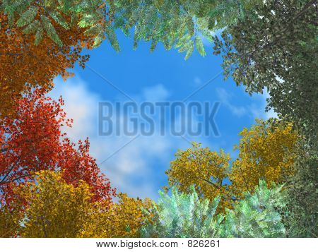 autumn colorful frame