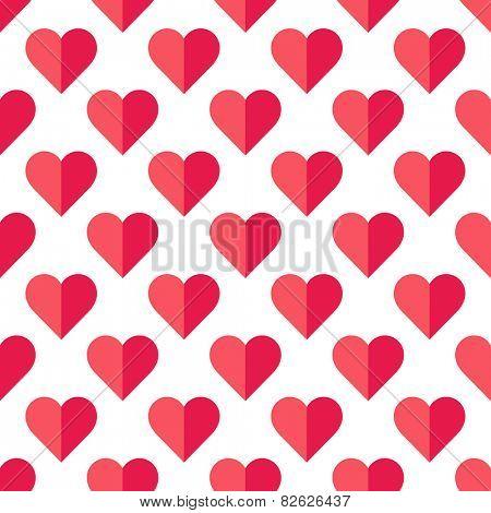 Abstract Valentine's heart pattern. Vector illustration.