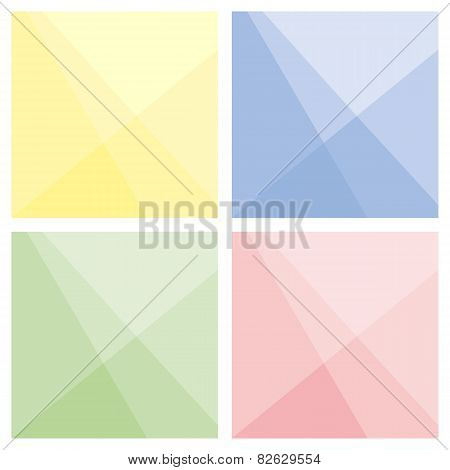 Vector triangle background set