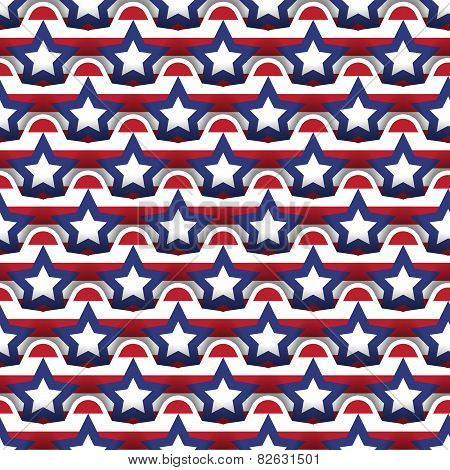 Seamless Layered 4Th July Background