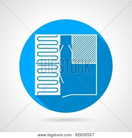 Heated floor flat vector icon