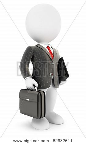 3d white people elegant businessman