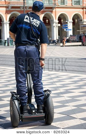 French police officer on a segway