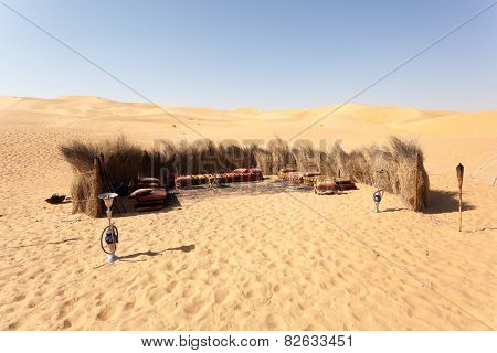 Bedouin Camp In The Desert