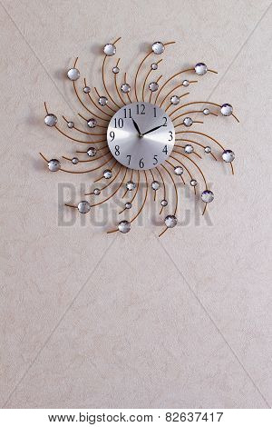 wall clock with sun rays