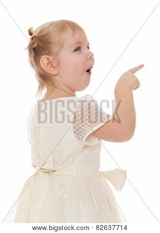 Blond girl with pigtails shows thumb up.
