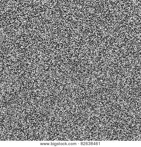 TV noise seamless texture. Vector.