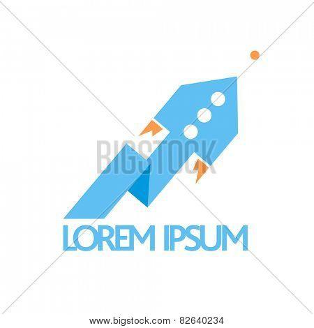 Blue fast rocket pointer symbol.