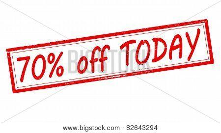 Seventy Percent Off Today