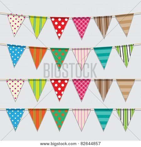 Colorful and bright bunting