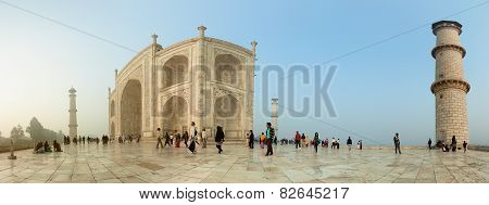 Agra, India - Circa Nov 2012: The Territory Of The Taj Mahal. Unusual View - The View With Wide View