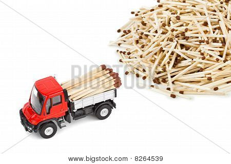 Toy Car Truck With Match