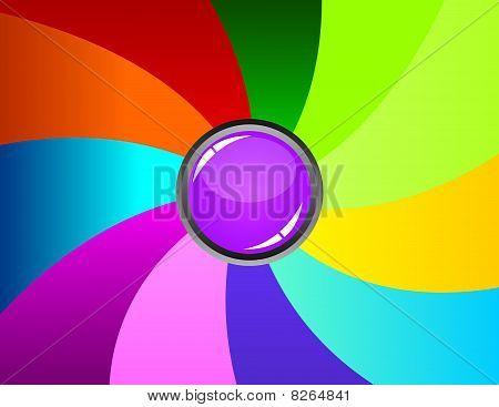 Rainbow Background Composition