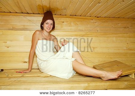 Girl  In A Sauna