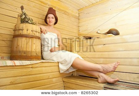 Girl Taking Steam Bath