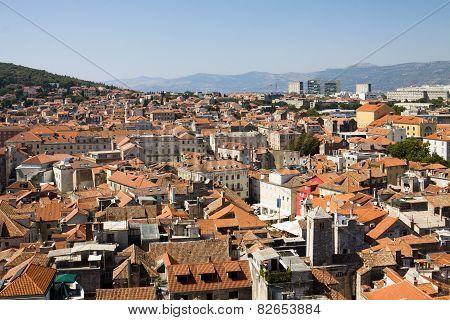 Aerial View Of Split City In Croatia
