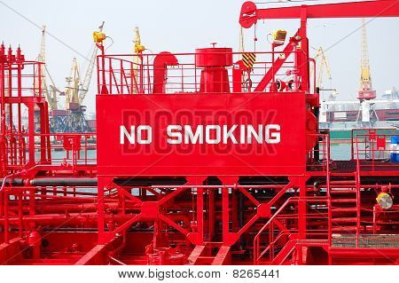 "The Warning Sign ""no Smoking"""
