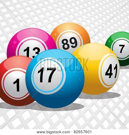 Bingo Balls On White 3D Background