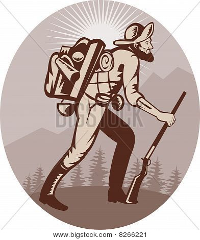 Caçador de caçador de prospector mineiro caminhadas