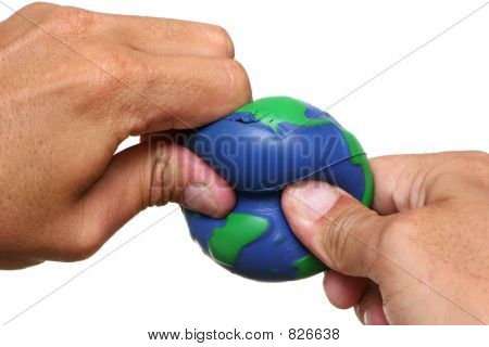 Hands Squeezing Earth