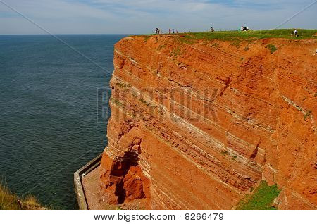 German Island Helgoland at North Sea