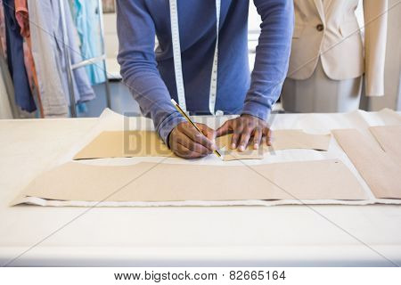 University student drawing patterns at the university