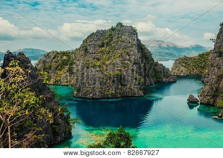 View Of Kayangan Lake In Coron, Philippines