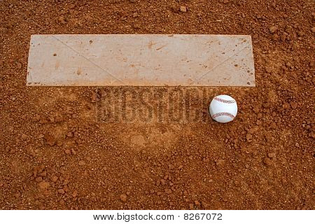 Baseball Near The Pitchers Mound
