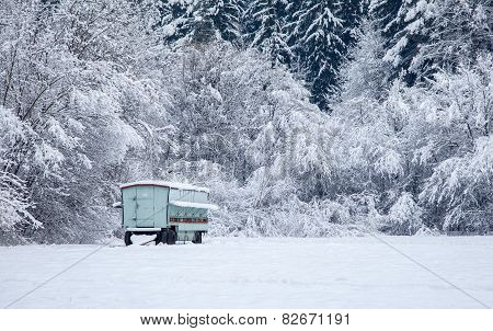 Beehive At Winter Country