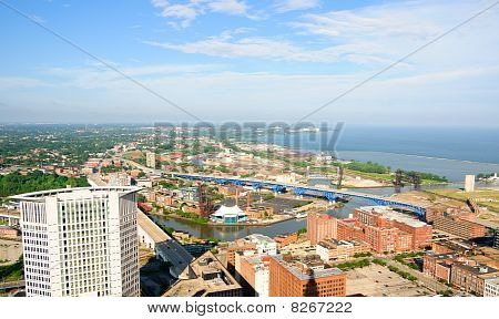 Panorama aéreo de Cleveland
