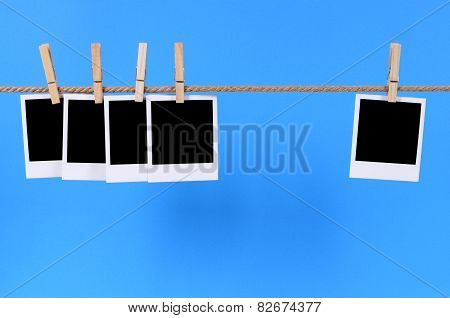 Blank Photo Prints On A Rope
