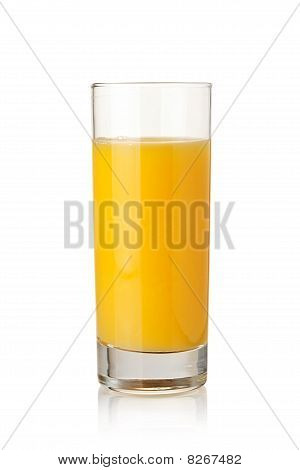 Orange Juice In Highball Glass