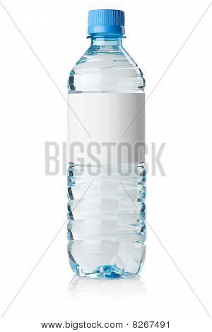 Soda Water Bottle With Blank Label