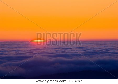 Sunrise on Top of Pacific Cloud Deck